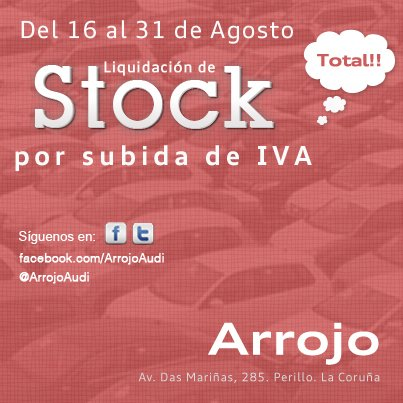 Liquidacion Stock Arrojo